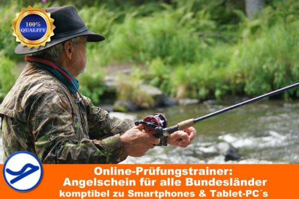 Angel-/ Bundesfischereischein (Online-Prüfungstrainer) {{Onlineversion !}}
