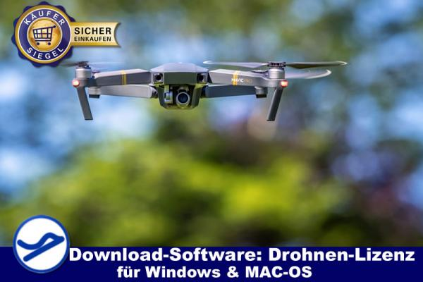 Drohnenlizenz - Downloadsoftware für Windows & MAC-OS {{Downloadversion}}