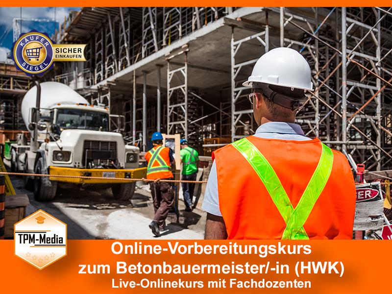 Online-Livekurse zum Betonbauermeister/-in