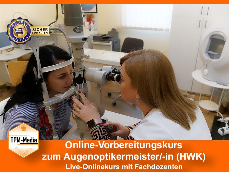 Online-Livekurse zum Augenoptikermeister