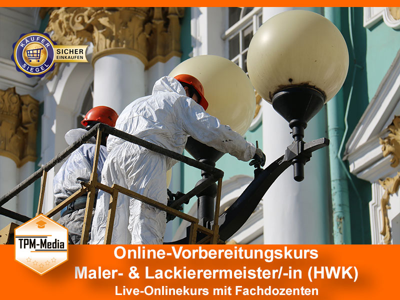 Online-Livekurse zum Maler & Lackierermeister/-in